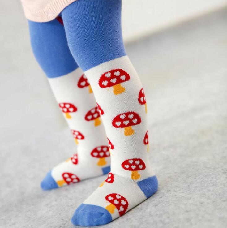 New baby tights heat design cotton non-bone non-slip knees love baby pantyhose