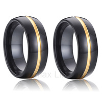 promise forever love ring set pair wedding band black tungsten rings gold color alliance 8mm popular jewelry stores