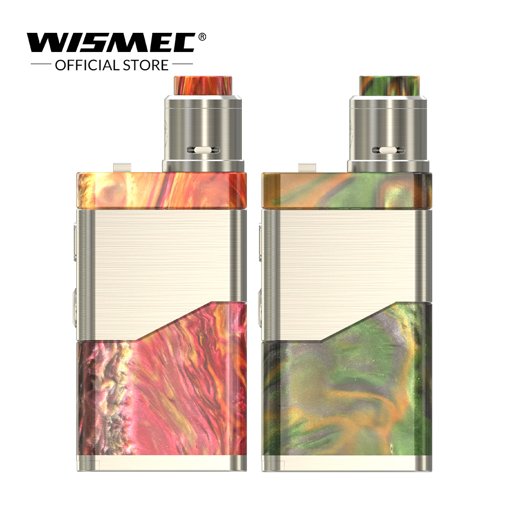 IN STOCK Original WISMEC lUXOTIC NC Dual 20700 Kit 250W With Guillotine V2 RDA Premade Clapton 0.28ohm coil E cigs vape kit