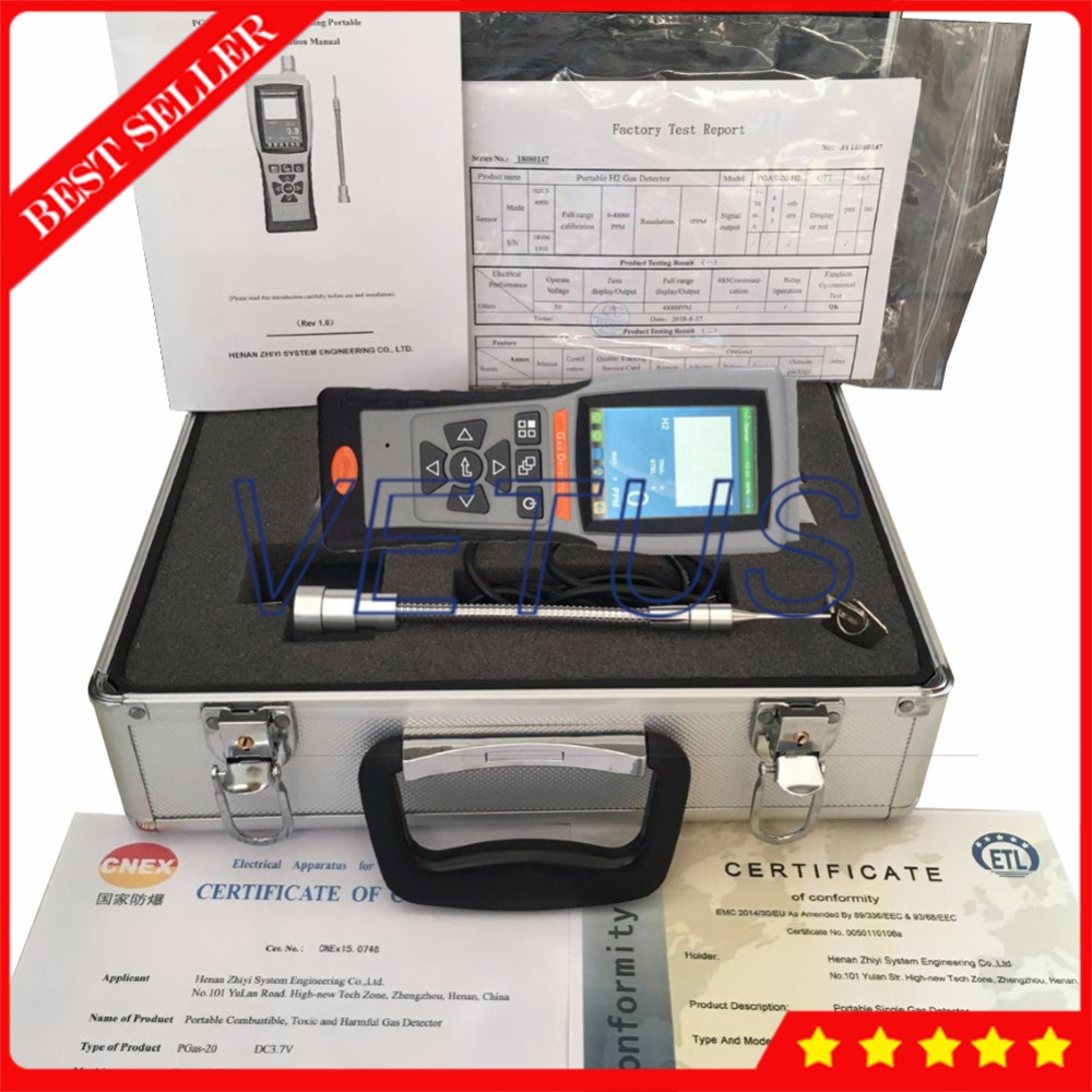 PGAS-21-G-O3 Portable Ozone Gas Detector O3 0-200ppm Meter Gas Analyzer with Calibration Record Test Record Function