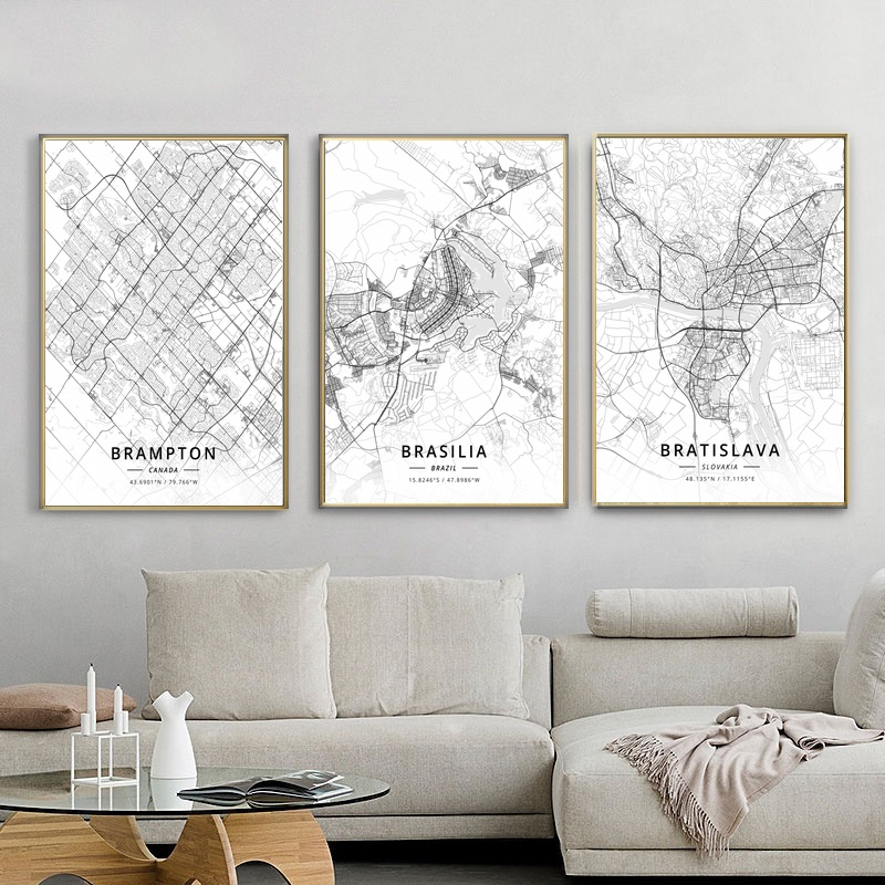 Aliexpress.com : Buy City Map Brampton Canada Brasilia