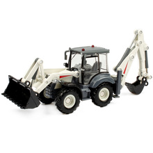 Alloy Diecast Excavator 1:50 4 Wheel Shovel Loader Two-Way Forklift Bulldozer Back Hoe Truck Model For Kids Gift Toys