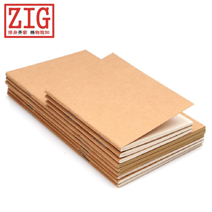 Kraft Paper Book Cover : One travel passport size notebook sketch book blank kraft