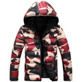 Casual Camouflage Down Jackets 2016 New arrival Fashion Winter Parka Men Camo Snow Casual Coats Jacket Double faced jacket