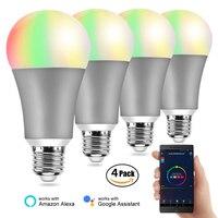 4PCS BB SPEAKER Light Bulbs Smart Bulb E27 220V Smart Lamp Led/Color Smart Bulb Wifi/ Alexa/Google Home Smart Bulb Dimmable