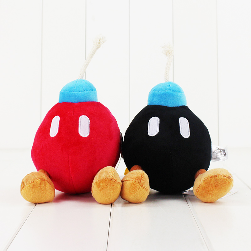 2Colors 14cm Super Mario Bros Bomb Plush Stuffed Dolls Yoshi Plush Pendant Toys Plush Toys Keychain
