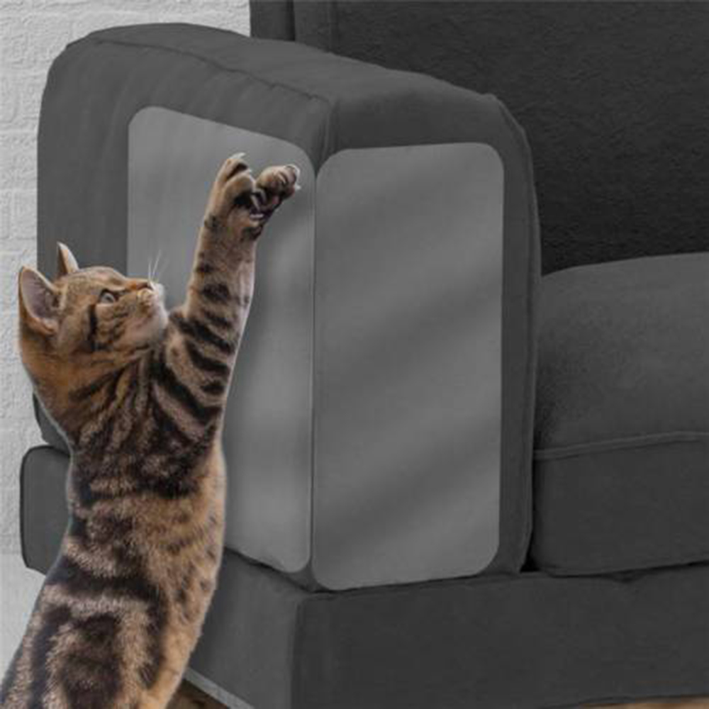 Couch guard cat claw protector Pinless self adhesie protect pads cat