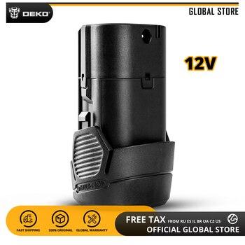 DEKO Battery12V 12 V MAX 1300 mAh lityum iyon batarya için GCD12DU3 Akülü Matkap Değiştirilebilir Pil Paketi