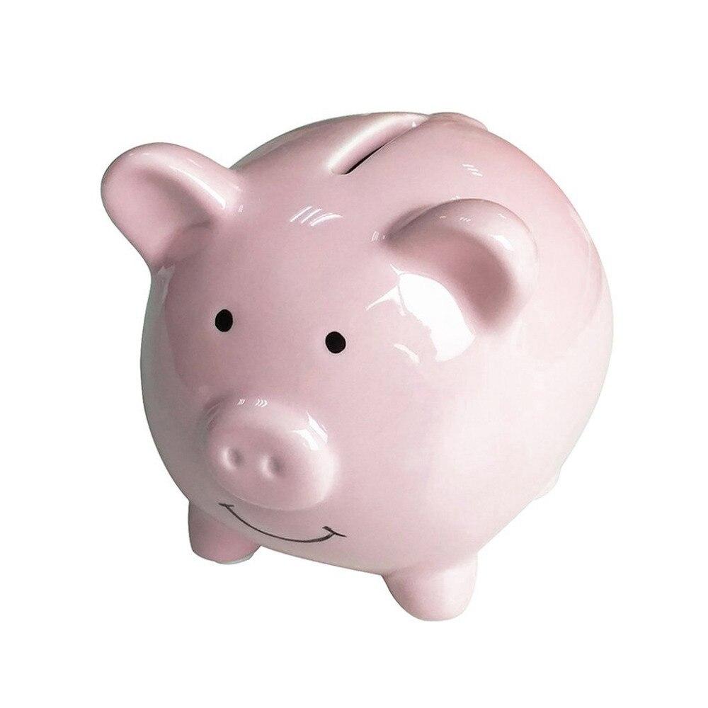 HOT Cute Ceramic Keepsake Piggy Bank Saving Cash Coin Money Box Children Toy Kids Gifts  ...