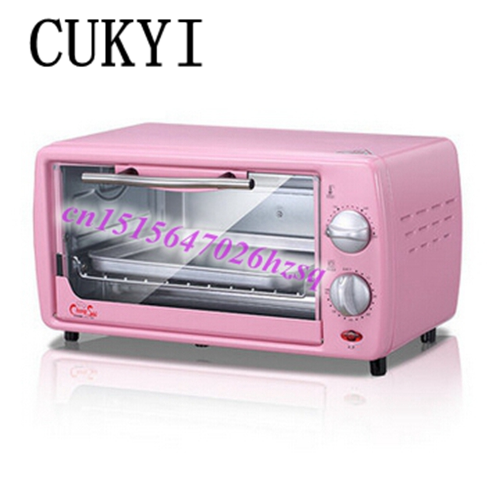 CUKYI mini pizza oven baking pink mini time-controlled 12L pull down the door good quality and cheap oven pfml nb400 stainless steel high temperature deck baking pizza oven machine for pizza shop