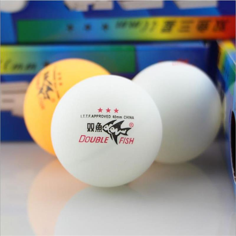 50 pieces lot Double Fish High Strength Professional Three Stars Level Table Tennis Ball for Competition