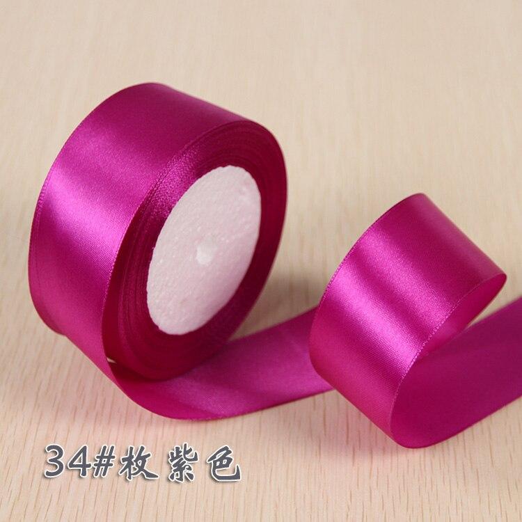 6 мм 1 см 1,5 см 2 см 2,5 см 4 5 см атласными лентами DIY искусственный шелк розы Ремесла поставок швейной фурнитуры Скрапбукинг материал - Цвет: Purple Red
