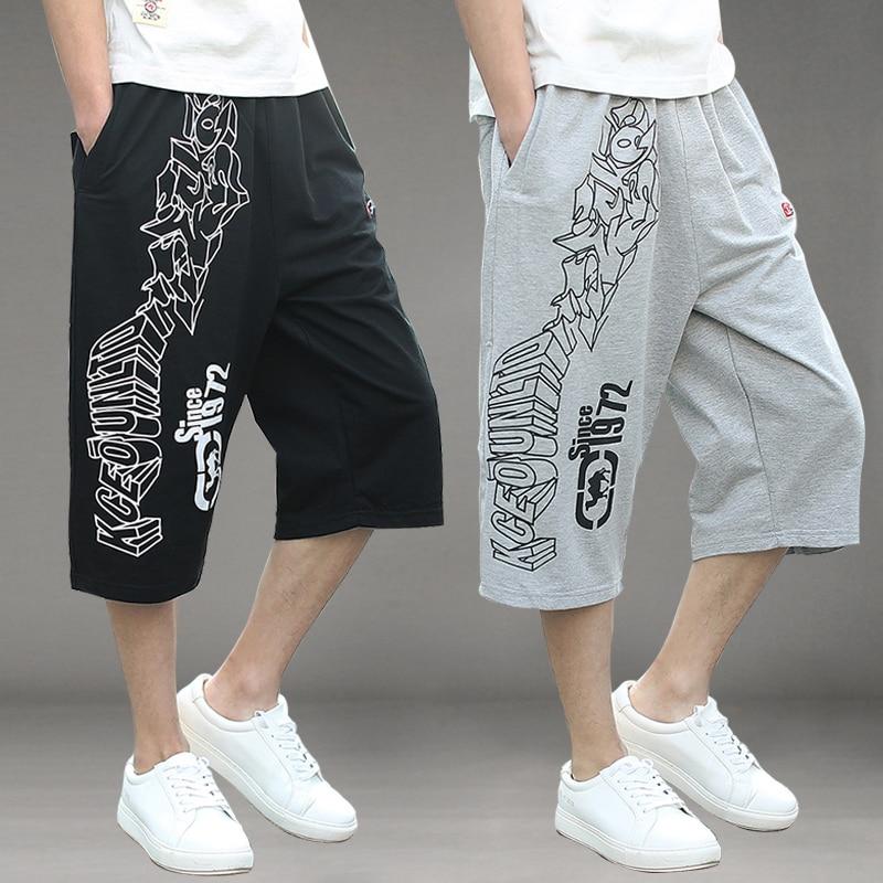 Summer Mens Multi Pocket Casual Cargo Shorts Men Cotton Loose Short Mens Calf-Length hip hop Man joggers Trousers Plus Size 6XL