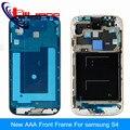 Новый Оригинальный ЖК Передняя Корпус Рама Новый Для Samsung Galaxy S4 I9500 I9505 I337 Рамка Плиты Ближний Рамка Серебро
