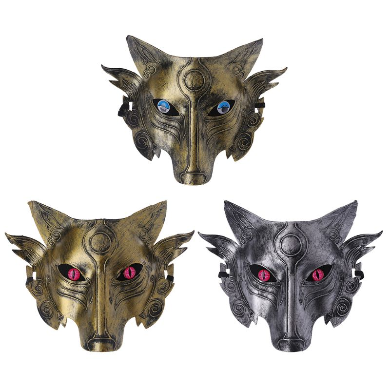 1Pc Werewolf Wolf Mask Masquerade Cosplay Props Movie Theme Halloween Party Supplies-m15