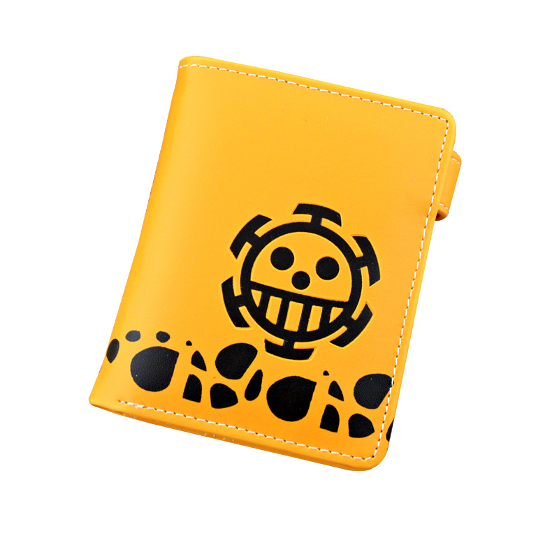 The Surgeon of Death Trafalgar Law Orange Button Purse/Wallet of Anime One Piece european ways of law