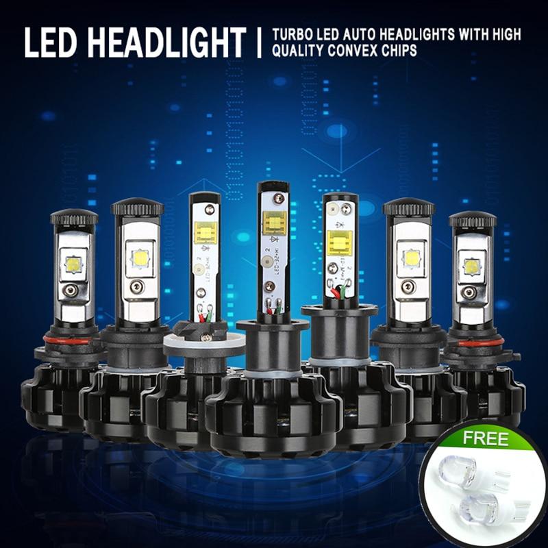 JGAUT V18 Kit éclairage de la Voiture H4 LED H13 9007 H7 H11 9005 9006 H1 H3 XHP70 3000 k 8000 k 6000 k Motorcyc Brouillard Phares Ampoules Lampe Canbus
