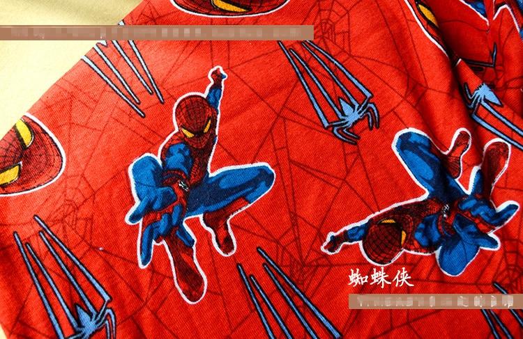 100*140cm Cartoon Spider Man Knitting Cotton Fabric For
