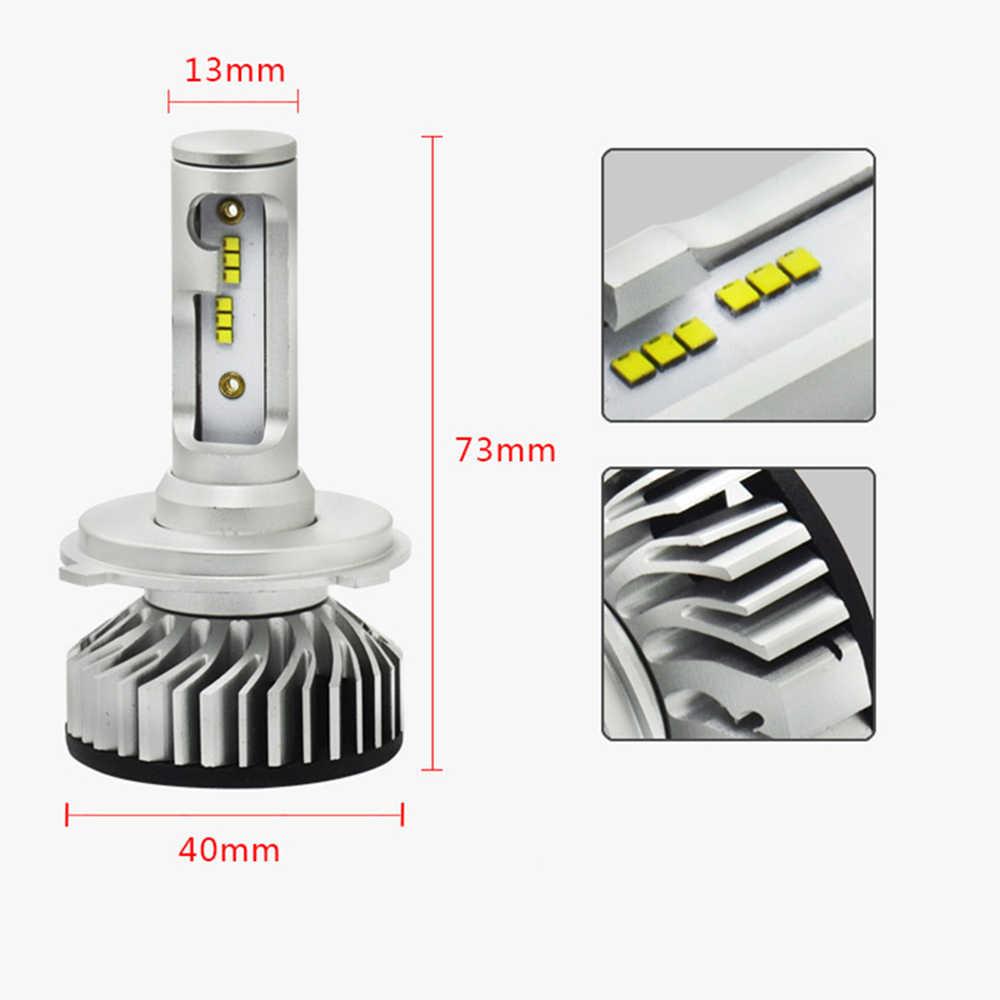 2Pcs NEW Design F2 With ZES Chip H1 H3 H4 H7 H11 9005 9006 Car Headlight LED Bulbs All In One LED H4 9012 HIR2 60W 10000LM 6000K
