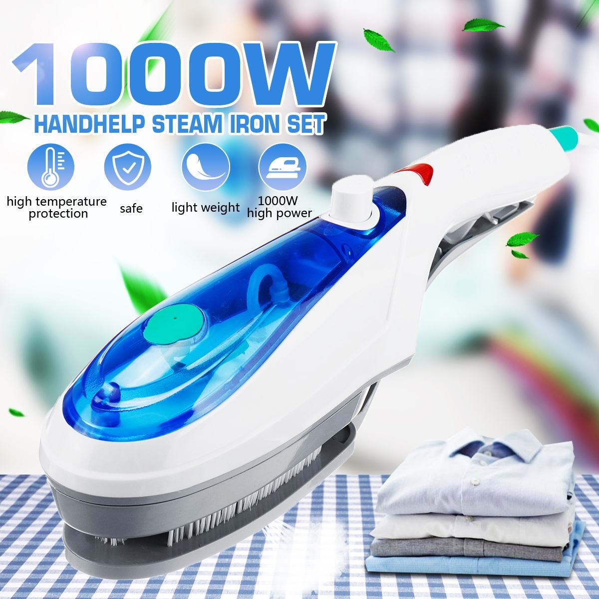 1000W Handheld Garment Steamer Brush Portable Steam Iron For Clothes Generator Ironing Steamer EU/US/AU plug 110V-240V