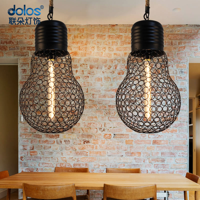 ФОТО Industrial Ceiling Light Loft Wind Vintage Bulb Hollow-out Droplight Restaurant Bar Decorative