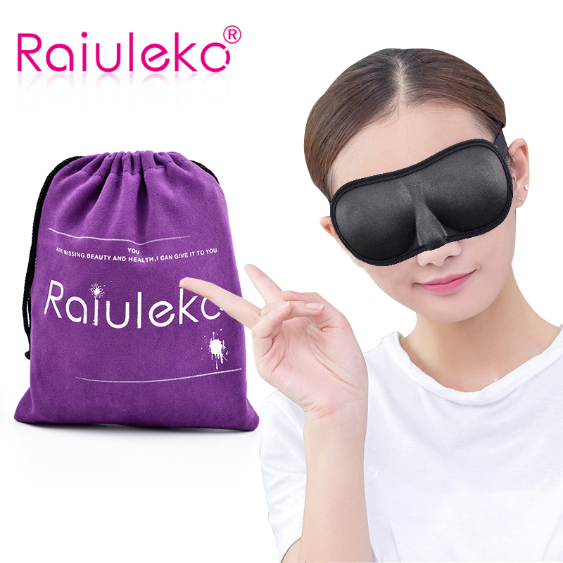 Perlindungan Mata Bernafas Lembut Perlindungan Masker 3D Perlindungan Penutup mata Eyeshade Sleeping Travel Eye Mask Eyepatch Eyewear Mask