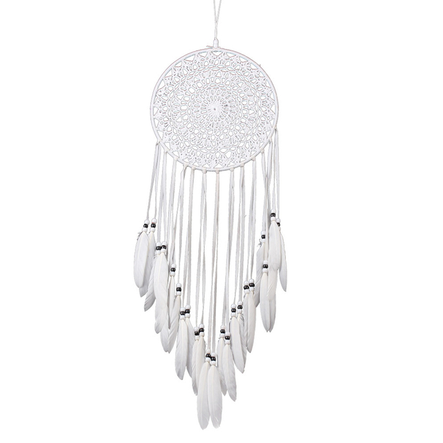White Handcrafted Lace Dream Catcher