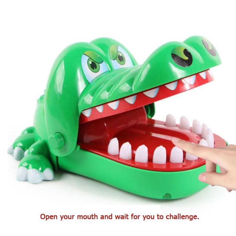 Children Gags Toy Large Bite Crocodile Toy Funny Party Switching Luck Testing Games Practical Jokes 16cm Kids Birthday Gift