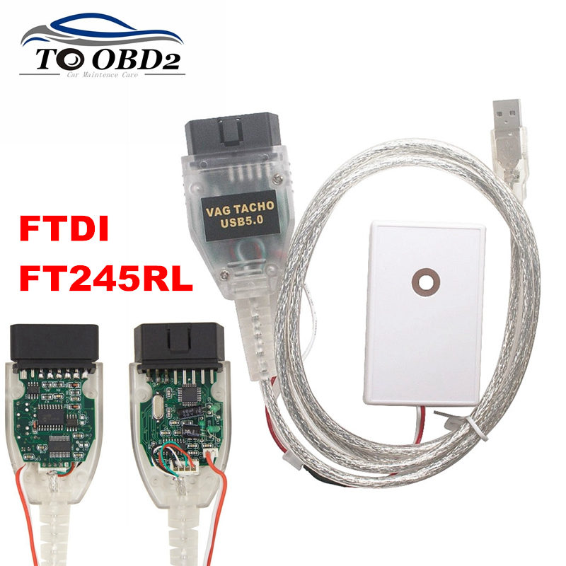 Newest VAG TACHO USB 5.0 USB Version OBD2 Car Diagnostic Tool FTDI FT245RL Vag Tacho 5.0 Latest Version MCU 24C32 24C64