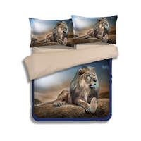 Lions Animal 3D Printed Comforter Bedding Sets Twin Full Queen King Size Duvet Covers 3pc Children's Adults Home Textile Linens