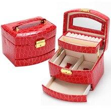 Ataúd Caja de Joyería Para La Joyería de alta Calidad Exquisita Joyería del Caso del Maquillaje Organizador de Graduación Regalo de Cumpleaños para La Muchacha