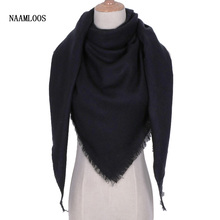 2017 Winter Brand Designer Triangle Scarf Women Shawl Cashmere  Unisex Soild Wool Scarves Blanket Wholesale Drop shipping OL083