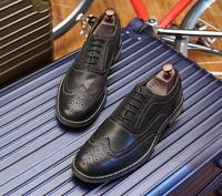 Обувь Для мужчин samrt Повседневная Натуральная кожа торжественное платье обувь резные мокасины на плоской подошве на шнуровке классические