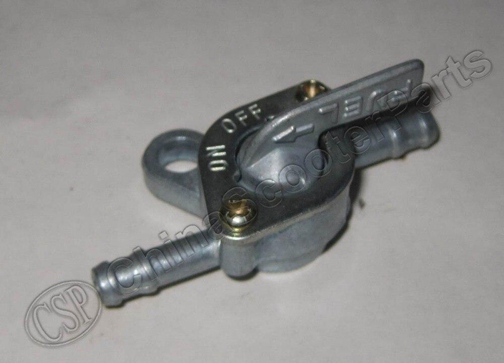 6mm x 55mm Zink Inline Kraftstofftank Tap Filter Schalter f/ür Pit Quad Dirt Bike ATV Buggy