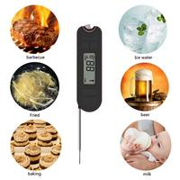 20 250C Digital Kitchen Cooking Food Thermometer Probe Foldable Gas Oven BBQ Meat Temperature Tester