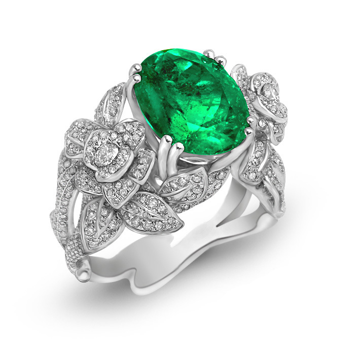 Véritable Anillos Qi Xuan_Fashion bijoux _ boutique CZ pierres vertes anneaux _ s925 solide argent anneaux _ fabricant directement ventes