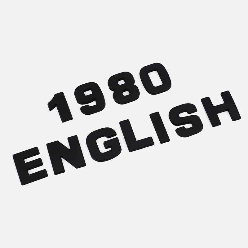 """Samochód 3D list angielskie litery samochód logo DIY alfanumeryczny metalowy korpus naklejki słowny znak towarowy """" ogon srebrny dla BMW dla Audi dla Ford"""