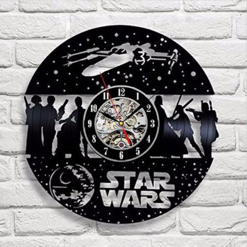 Theme Classic Retro Vinyl Record Wall Clock Decorate Your Home With Modern Art Gifts For Kids Girls And Boys Saat