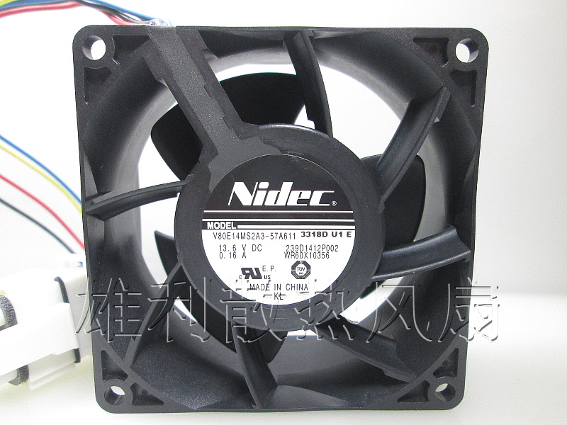 Free Delivery. New 13.6V 0.16A V80E14MS2A3-57A611 8CM 8038 Cooling Fan free delivery ac230v 8 cm high quality axial flow fan cooling fan 8038 3 c 230 hb