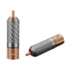 Viborg 4 Pcs Hifi VR108 Carbon Fiber Pure Copper RCA Signal Amplifier for Hi-end RCA Audio Connector Cable 3m nordost odin rca audio cable with carbon fiber rca audio hifi plug hifi rca cable