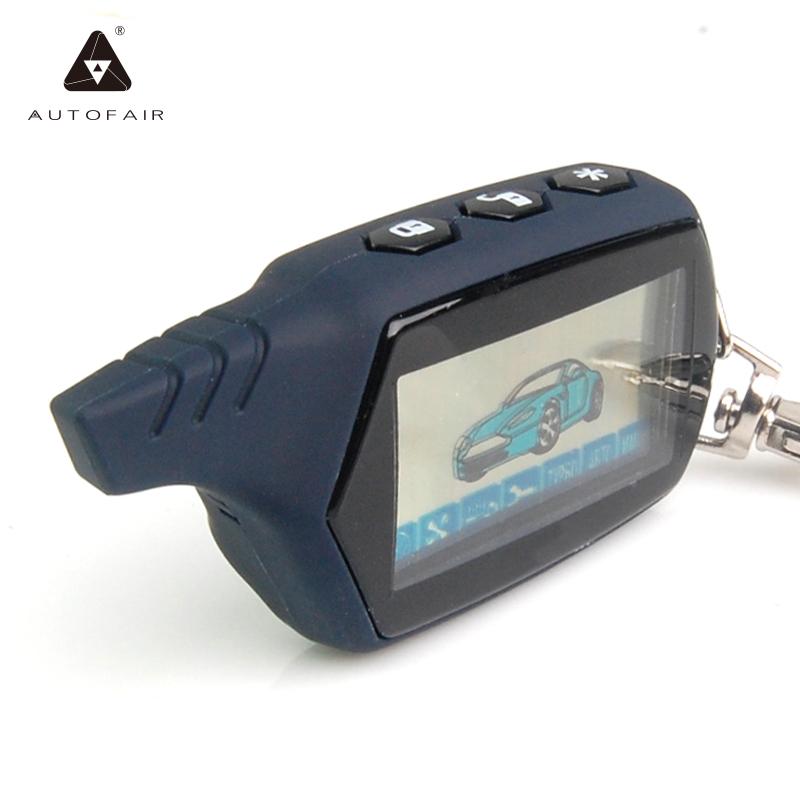 Prix pour Livraison Gratuite A91 LCD à distance contrôleur pour 2 voies voiture alarme starline 91 moteur starter starline A91 fob keychain/lcd corps à distance