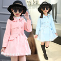 Spring & Autumn Children's Jackets For Girls Trench Coat Kids Clothes Double-breasted Princess Girl Outwear Child Outfits 5-13 Y