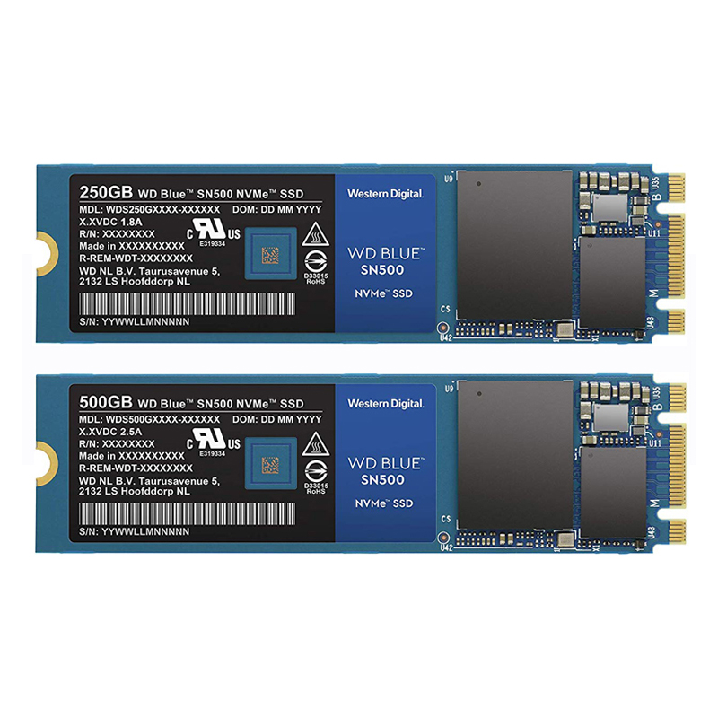 Western Digital Blue SN500 SSD Drive 250GB 500GB M.2 2280 NVMe PCIe Gen3*2 Internal Solid State Drive For PC Free Shipping(China)
