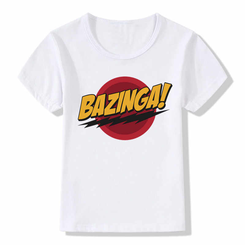 2019 Children The Big Bang Theory Bazinga T shirt Kids Summer Casual Short Sleeve Tops Baby Boys Girls Clothes,ooo462