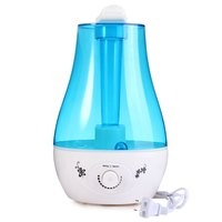 Air Humidifier Ultrasonic Aroma Diffuser Humidifier For Home 3L Mini Humidifier Air Purifier With LED Lamp