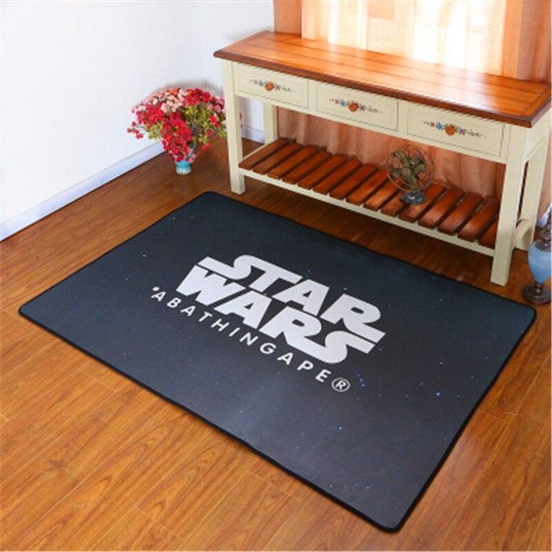 40*120cm Star Wars Area Carpet Polyester Fabric Black Rug For Bedroom  Carpets Kids Home