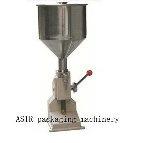 Food filling machine Manual hand pressure stainless paste dispensing liquid packaging equipment sold cream machine 1 ~ 50ml