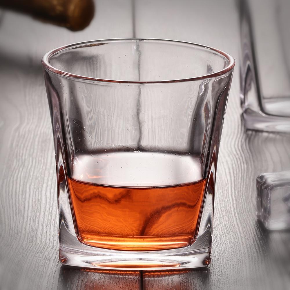 Kvadrat əsaslı viski şərab şüşəsi 8OZ Vaso Copos İçki üçün araq şirəsi südü