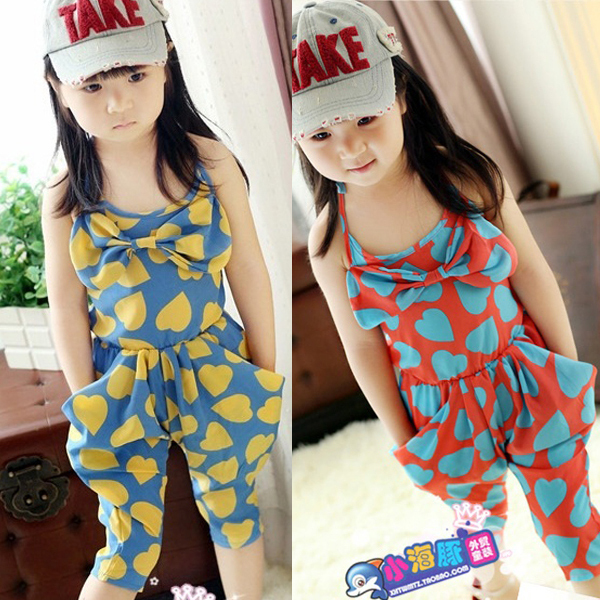 1a54eb35f3823 US $4.69 |Girls Clothes 2018 Summer Baby Girl Clothes Clothing Rompers  Cotton Washed Jeans Sleeveless Bow Knot Jumpsuit Dropshipping-in Clothing  Sets ...