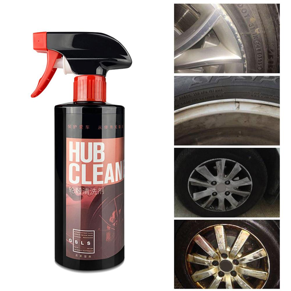 Image 2 - 500ML Wheel Cleaner Hub Cleaning Car Steel Stainless Steel Glazing Decontamination Rust Removal Steel Ring Remove Iron Powder-in Rust Remover from Automobiles & Motorcycles